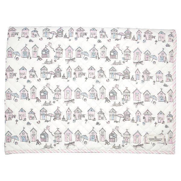 GreenGate quiltet teppe til barn 120x120, Ellison pale pink