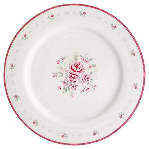 Bilde av Middagstallerken Flora white
