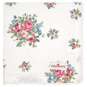 Bilde av GreenGate napkin with lace Franka white