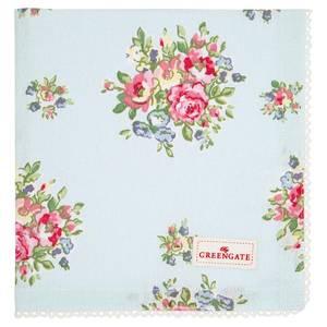 Bilde av GreenGate napkin with lace Franka pale blue