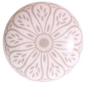 Bilde av Knotter av hvit keramikk med grått mønster