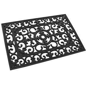 Bilde av Dørmatte sort gummi 45x75 cm