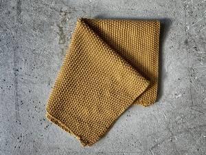 Bilde av Strikket klut, 28x28 cm sennep