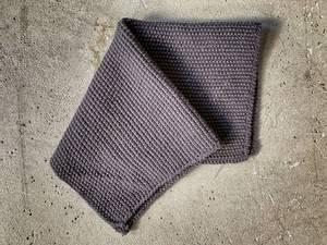 Bilde av Strikket klut, 28x28 cm mørk grå