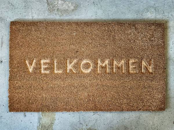 Dørmatte gravert Velkommen 40x70cm