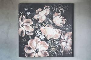 Bilde av Lerretsbilde blomsterhage 100x100cm