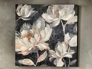 Bilde av Lerretsbilde med blomster 90x90 cm