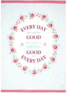 Bilde av Koppehåndkle Everyday pale blue piece printed
