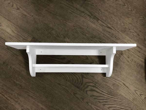 Mølla vegghylle med hylle, natural white 80cm