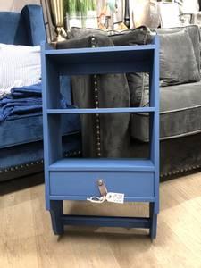 Bilde av Mølla vegghylle med skuff og stang, Royal blue