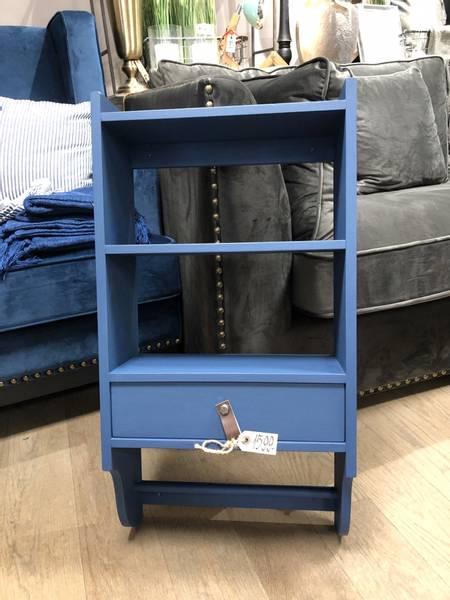 Mølla vegghylle med skuff og stang, Royal blue