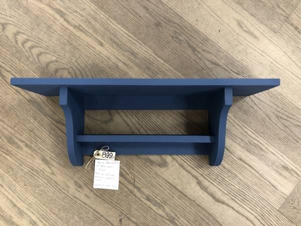 Mølla vegghylle med hylle, Royal blue 60cm