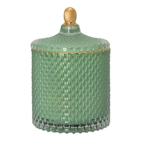 GreenGate glasskrukke Jar green with gold small