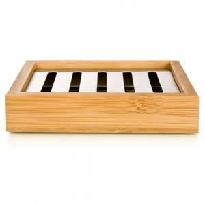 Bilde av Såpeskål av bambus og stål