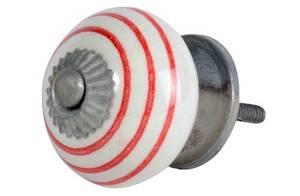 Bilde av Hvite knotter med røde striper