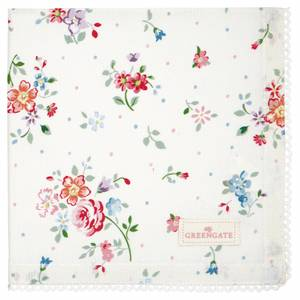 Bilde av GreenGate napkin with lace / brikke Belle white