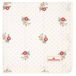Bilde av GreenGate napkin with lace / brikke Eja white