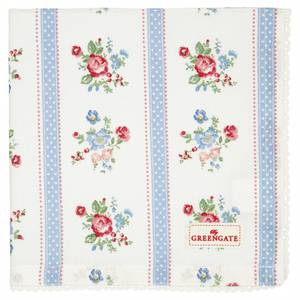 Bilde av GreenGate napkin with lace / brikke Evie white