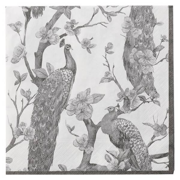 PETRELLE papir napkin 33x33cm - papirservietter