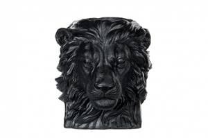 Bilde av Blomsterpotte, løvehode, svart