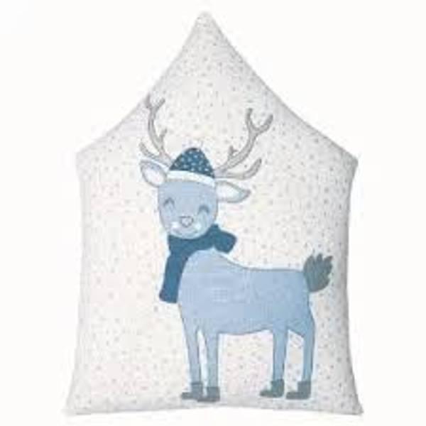 GreenGate pute Deer pale blue pieceprinted 30x40cm