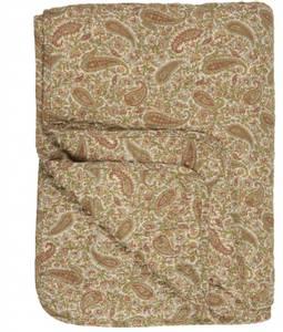 Bilde av Quiltet teppe / sengeteppe Paisley (grønn,