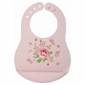 Bilde av GreenGate smekke baby bib Marley pale pink