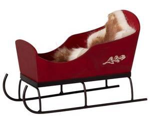 Bilde av Maileg sleigh, slede - rød