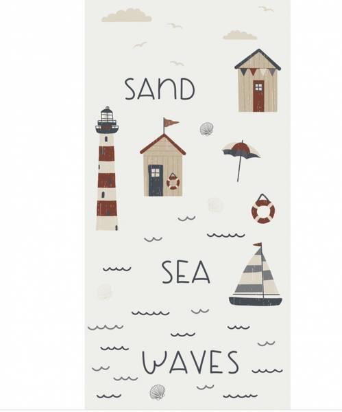 Papirservietter Sand, Sea, Waves (40x40cm)