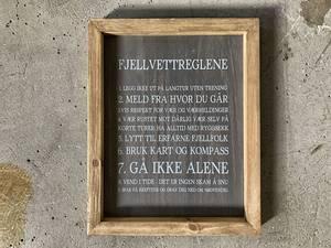 Bilde av Treskilt, Fjellvettregler, 20x25cm