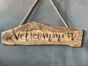 Bilde av Treskilt «Velkommen», lengde 60cm