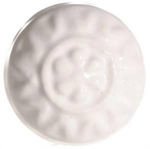 Bilde av Knotter av hvit keramikk med preget mønster