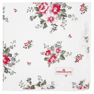 Bilde av GreenGate napkin with lace / brikke Elouise white
