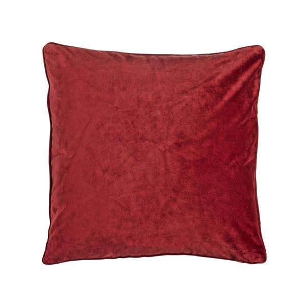 Putetrekk, VELVET, rød fløyel, 45x45cm