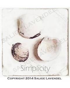 Bilde av Kort fra salige lavendel: Simplicity skjell