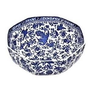 Bilde av Blue Regal Peacock Octagonal Bowl Medium 20,5cm