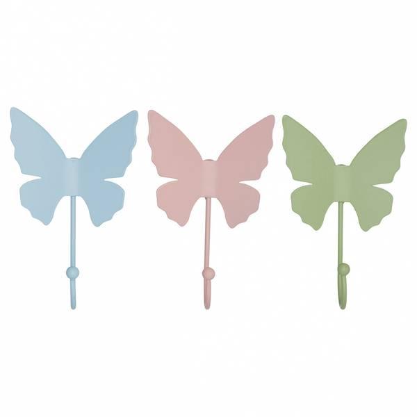 GreenGate knagg Butterfly pastel (velg farge)