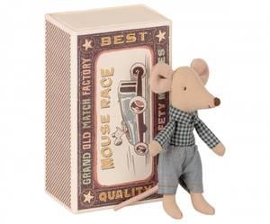 Bilde av Maileg little brother mouse in matchbox,