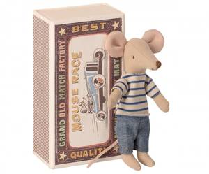 Bilde av Maileg big brother mouse in matchbox, storebror