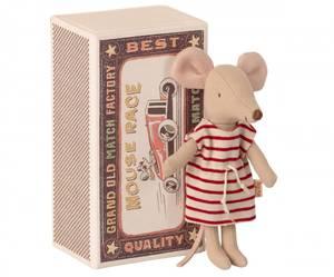 Bilde av Maileg big sister mouse in matchbox, storesøster