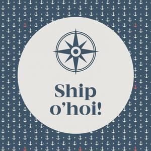 Bilde av Papirservietter Ship O'hoi, blå