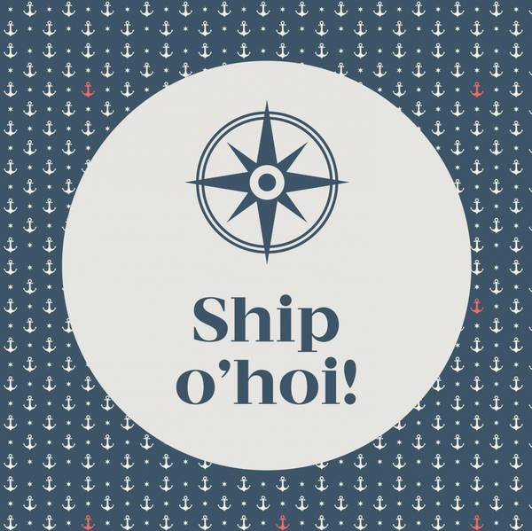 Papirservietter Ship O'hoi, blå