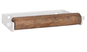 Bilde av Toalettrullholder hvit med trerull