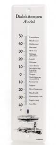 Bilde av Dialekttempen - termometer Ændal med fyrtårn
