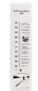 Bilde av Dialekttempen - termometer Fjellvettreglene 1952