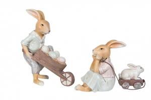 Bilde av Kaniner med kjerre / vogn (velg variant)