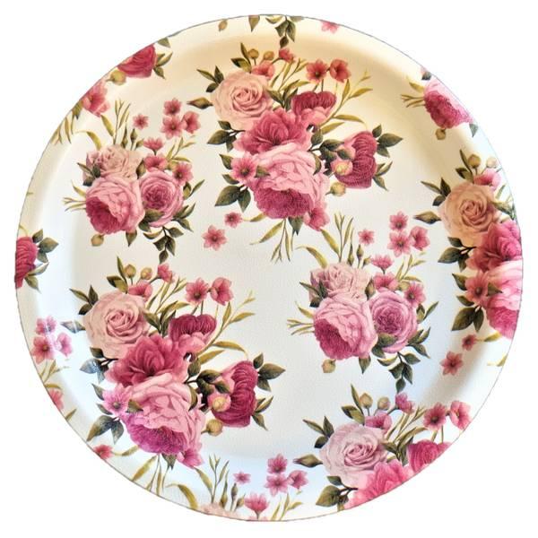 Bilde av Tallerken Hardplast Rosa Roser 24 cm