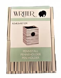Bilde av Penneholder 8,2x8,2x10,7 cm stripete
