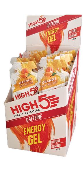 Bilde av High 5 energy gel med koffein appelsin smak