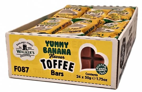 Bilde av Walker's Yummy Banana Toffee 24x50g HEL ESKE